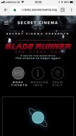 2 Tickets to Secret Cinema Fri the 6th of April
