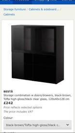 "Ikea ""Besta"" display unit/drinks cabinet RRP £242"