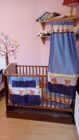 """Wooden cot bed """"bears"""""""