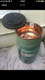 Copper combination cylinder tank immersion