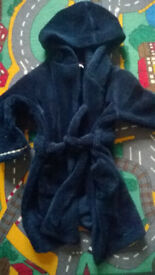 Dressing gown age 4-5 years navy Jasper Conran