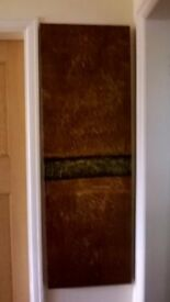 Large bronze/brown effect canvas picture