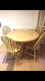 Table and 4 chairs great condition