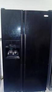 Whirlpool black double door fridge  WITH FREE DELIVERY