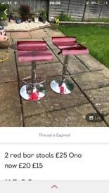 Red Bar stools £15