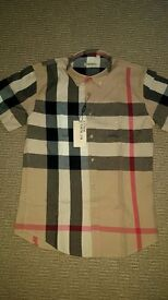 """BURBERRY SHIRT + DENIM SHIRT 38"""" CHEST BRAND NEW WITH TAGS"""