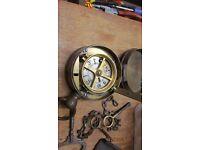 antique victorian night watchman/jailers clock. manchester