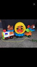 Toot toot train with animals