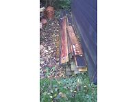 Free to good home - Old unused Feather edged boards