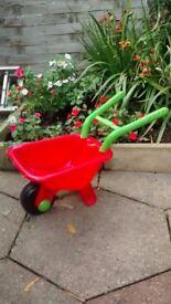 Small child's wheelbarrow