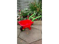 Small child's wheelbarrow