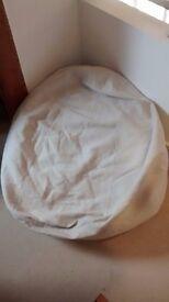 2x Cream Colour Plain Adult Bean Bags For Sale