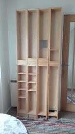 2 DVD/CD Ikea Shelf Units Ash veneer