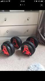 Adidas 18KG weights! Like New!