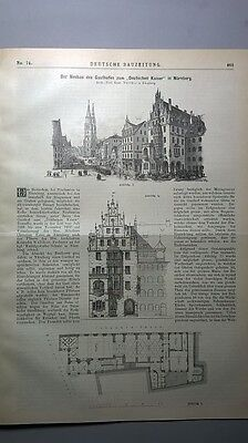 1895 74 Nürnberg Gasthof Gaststätte zum Deutschen Kaiser