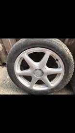 Set of 3 tyres with alloys 195/50R15