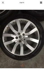 "GENUINE 20"" RANGE ROVER ALLOY & WINTER TYRES"