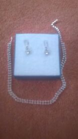 Diamante Necklace and Earrings Set
