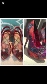 *VIVIENNE WESTWOOD*IRON FIST* TWO PAIRS OF LADIES SIZE 3 HEELS *COLLECTION ONLY*