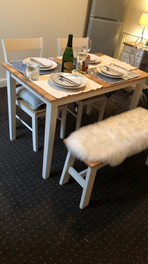 Cool Argos Dining Table Chairs And Bench Two Tone Shabby Chic In Bolton Manchester Gumtree Squirreltailoven Fun Painted Chair Ideas Images Squirreltailovenorg