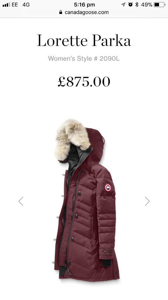 canada goose coat gumtree