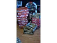 classic red wooden coca cola soda pop crates,shop,bar,mancave