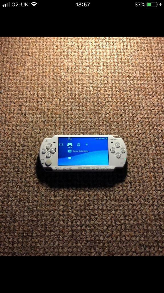 White PSP Slim & Lite with custom firmware installed   in Southampton,  Hampshire   Gumtree