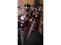 2 x silver boys bikes