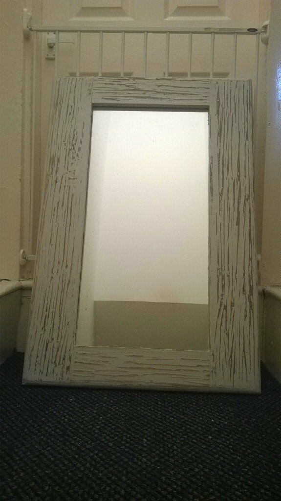 rustic shabby chic mirrorin Stoke on Trent, StaffordshireGumtree - Lovely solid wooden rustic mirror hand painted in winter grey chalk paint and varnished delivery in the stoke on Trent area can be arranged for extra cost