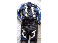 Two piece motorcycle leathers