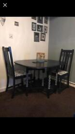 Dining table, coffee table and tv unit