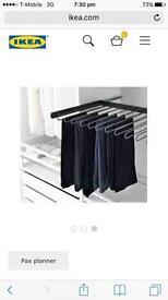IKEA Trouser Rail for PAX Wardrobe. £10