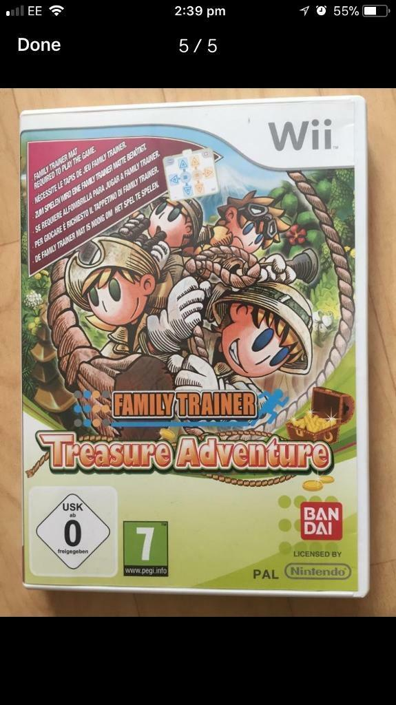 Wii family trainer, treasure adventure game and mat