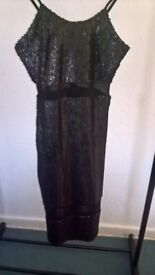 Misguided sequined dress size 10