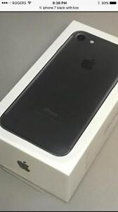iPhone 7 128 GB BLACK , MATTE FACTORY UNLOCKED ( INTERNATIONAL )NEVER USED , WITH  APPLE CARE PLUS WARRANTY