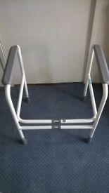 Adjustable height & width Toilet frame
