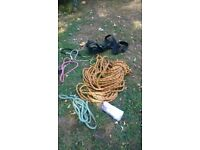 Ropes and climbing harness