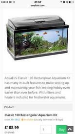 Fish tanks empty tanks aquarium Viv reptile £10