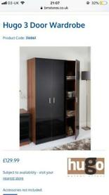 Wardrobe, chest of draws and 2 bedside cabinets