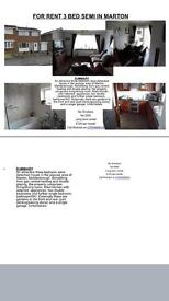 MARTON 3 bed semi house to rent