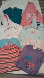 Girls 18-24 month clothes bundle - 4 jumpers and 4 tops