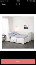 Ikea hemnes day bed with 2 mattresses