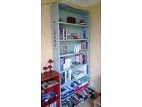 Pale Blue Painted Wood Book Case