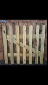 Wooden picket garden gate. Quality made with high quality timber