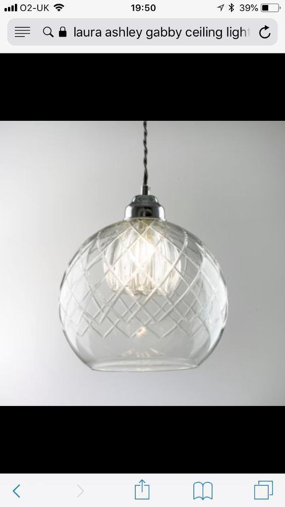 Laura Ashley Gabby Gl Ceiling Light In Netherfield Nottinghamshire Gumtree