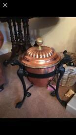 Antique copper bucket