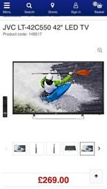"""SOLD SOLD SOLD JVC 42"""" Tv with original remote control i"""