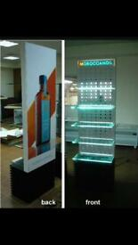 2 x Morrocanoil display stand hairdressing retail cabinet stand