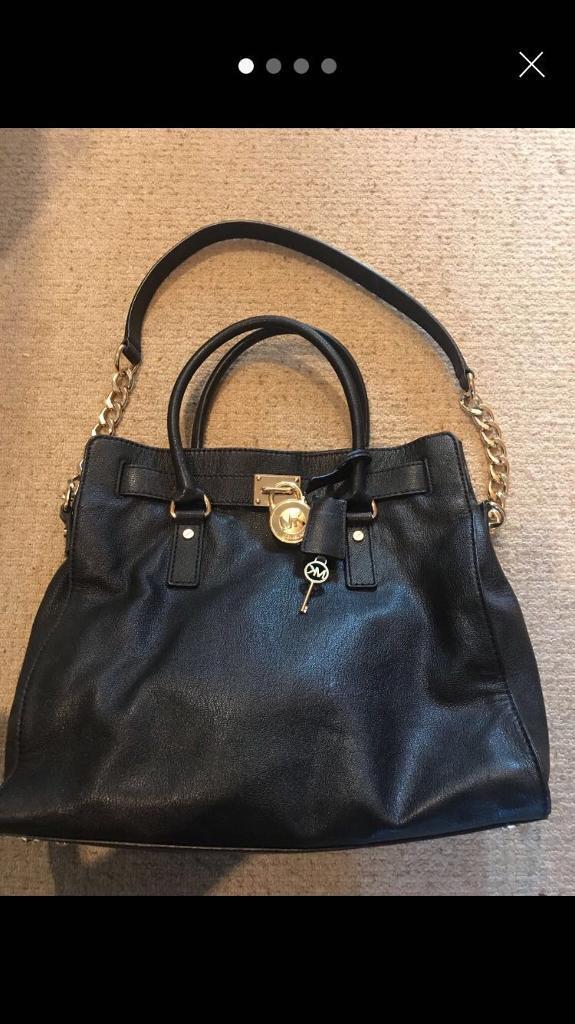 Michael kors Hamilton black leather bag  73cba3c08a23b
