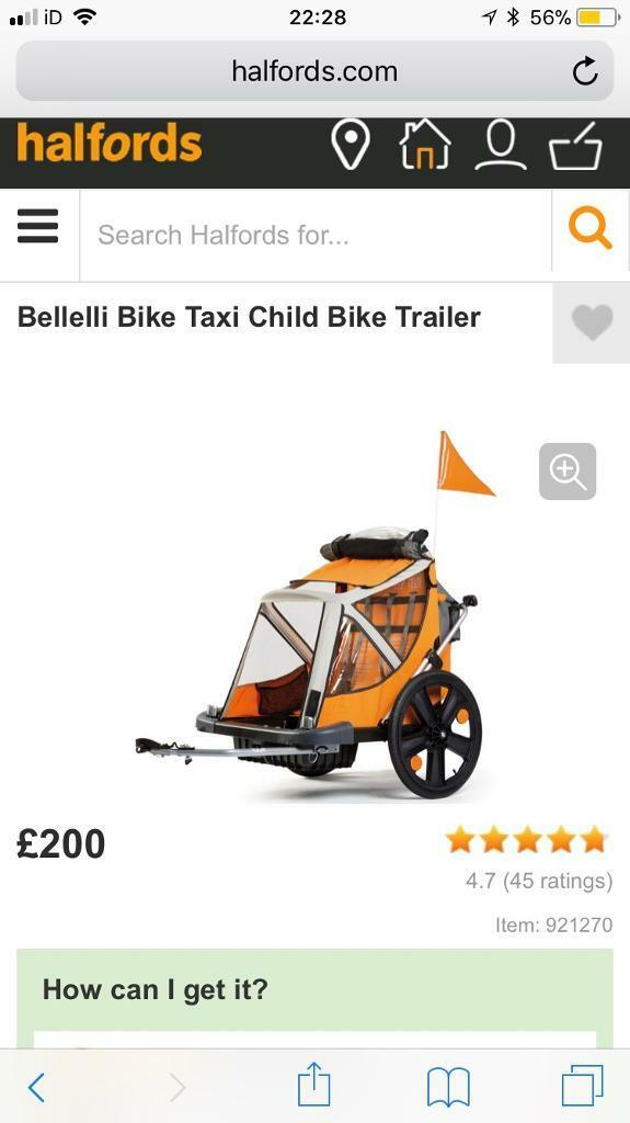 Belleli bike child trailer